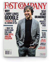 Fast Company Feature Article Issue 155 'Why Larry Loves Google' Re: April 2011