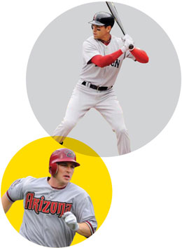 All-Star hopefuls: Arizona's Miguel Montero and Boston's Jacoby Ellsbury | Harry How/Getty Images (Montero); Tom Cammett/Diamond Images/GEtty Images (Ellsbury)