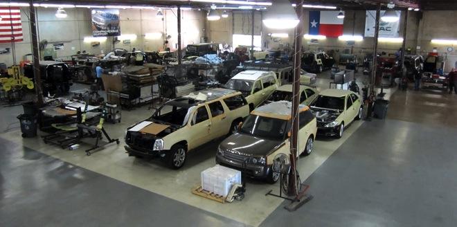 car armor garage