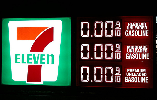 7 Eleven zero gas prices