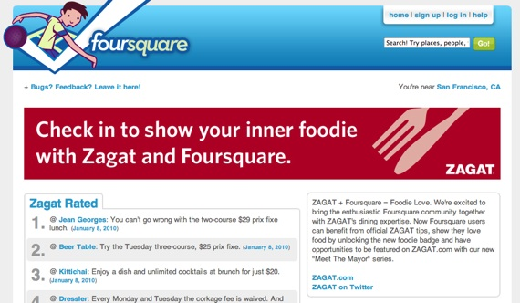 foursquare and zagat