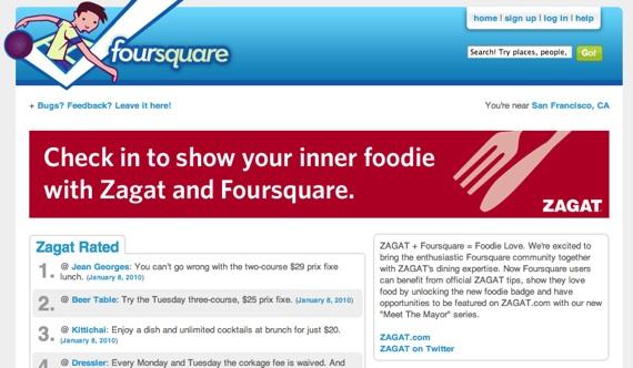 foursquare and zagat