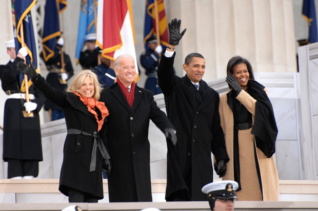 President Obama with Wife and Joe Biden and Wife