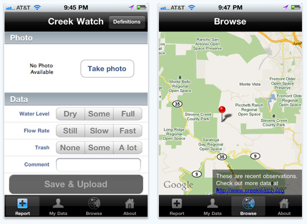 Creekwatch app