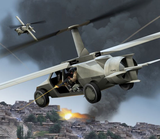 DARPA flying Humvee
