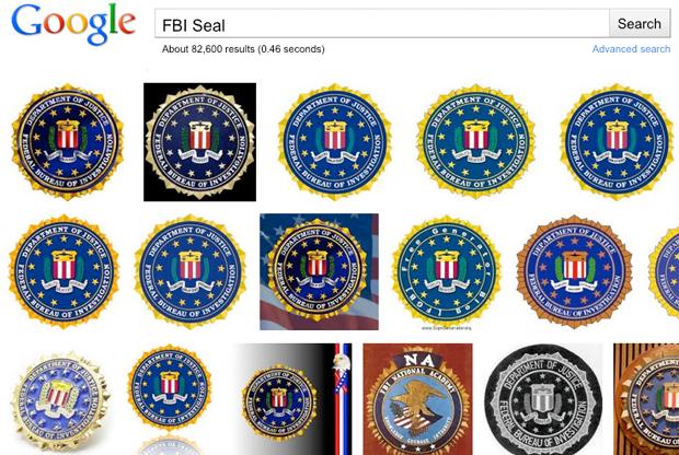FBI seal on Google