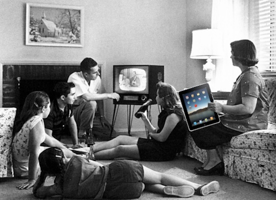 vintage family TV iPad
