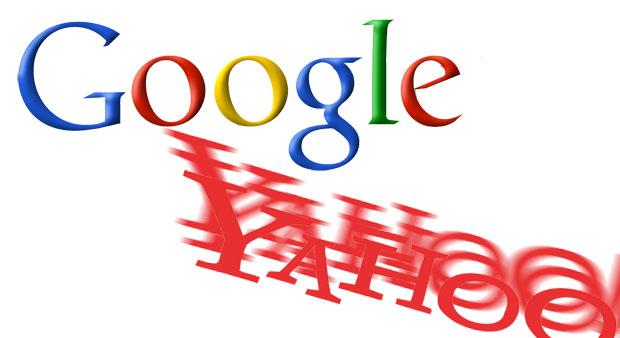 Google logo, Yahoo logo shift