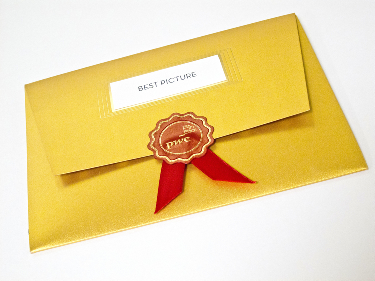 The Frumpy Oscar Envelope Gets A Hollywood Makeover on oscar nomination card