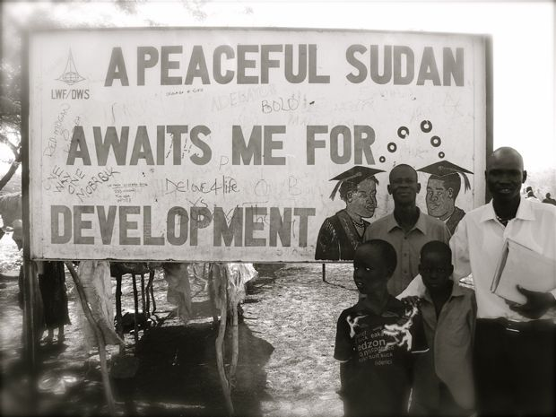 Sudan peace sign