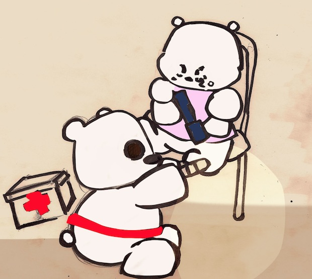 Red Cross Brave Bear book