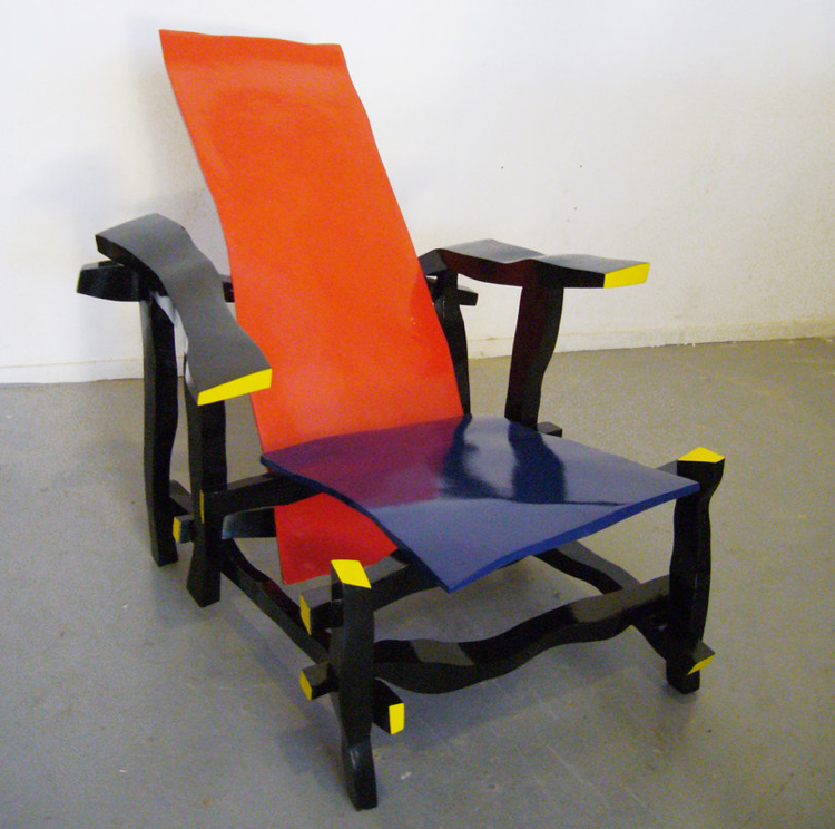 Right handed designer reinterprets rietveld 39 s most famous for Famous chairs