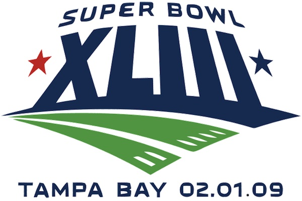 I mean, just look at this poncey logo for XLIII: Super bowl