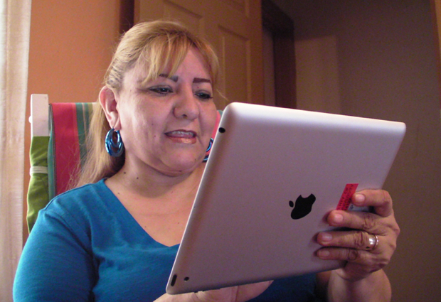 Leticia Aguirre with iPad 2