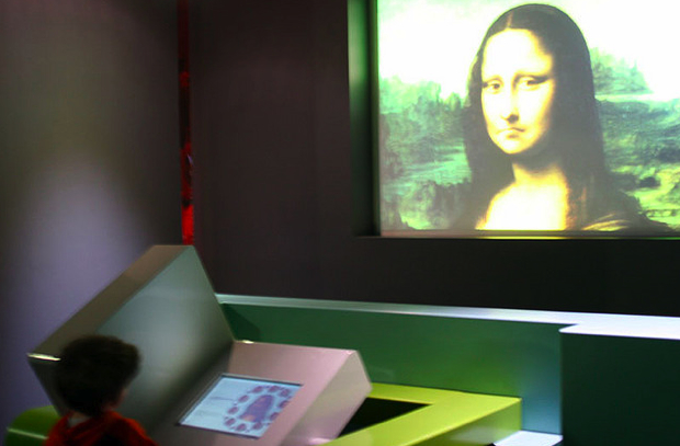 Mona Lisa on monitor