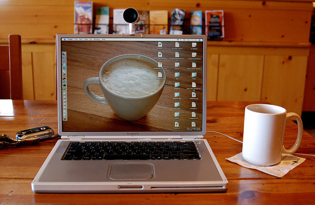 coffee image on macbook