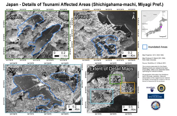 Japan Tsunami (Credit: Disaster Charter)