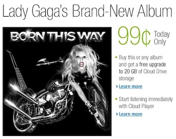 Amazon Lady Gaga Born This Way deal