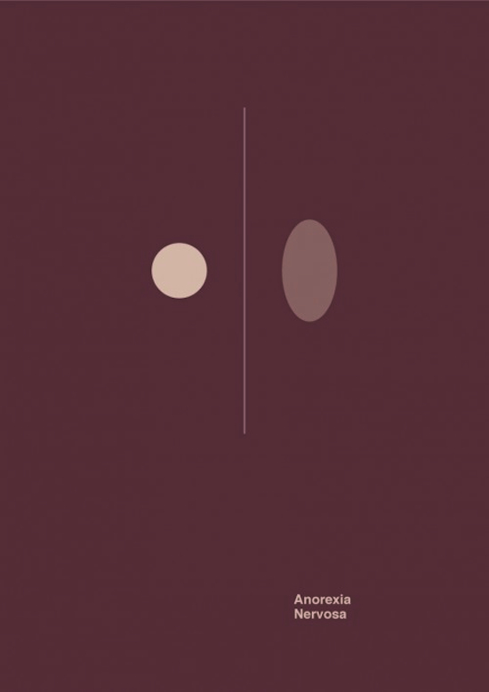 Minimalist posters depict the essence of mental disorders for Define minimalist design