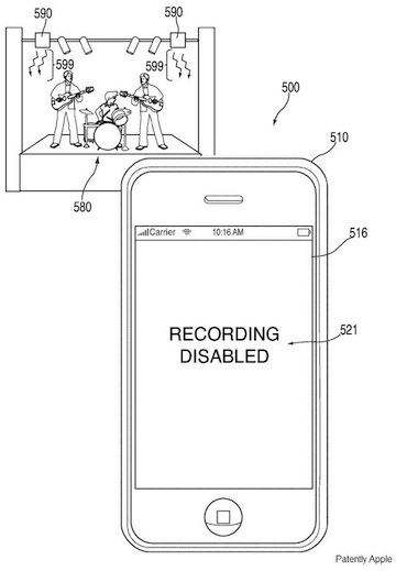 Apple IR cam patent