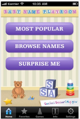 Baby Name Playroom app