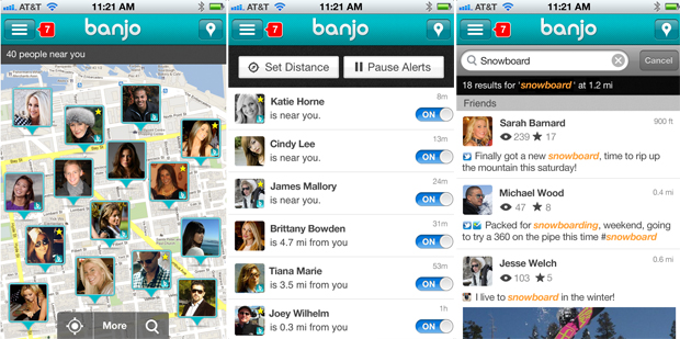 banjo 2.0 app screenshots