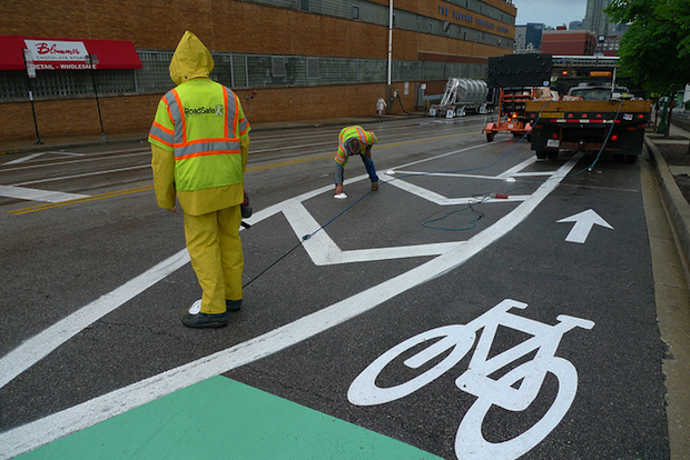 bike lane construction