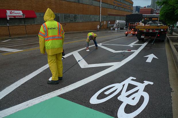bike lane construction