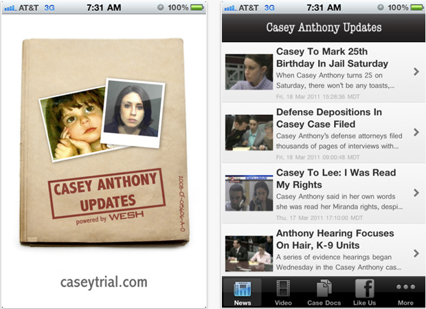 Casey Anthony murder trial app