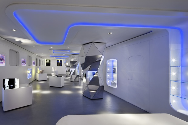 Milan gallery the closest thing on earth to outer space for Outer space interior design