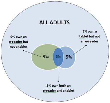 e-reader pie chart