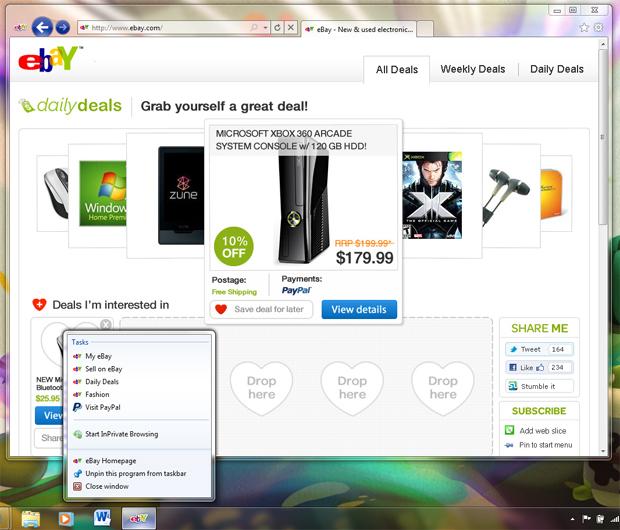 eBay IE9