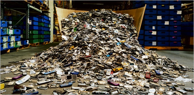 pile of e-waste