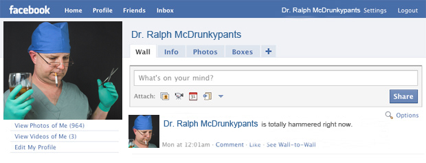 Drunk Facebook doctors