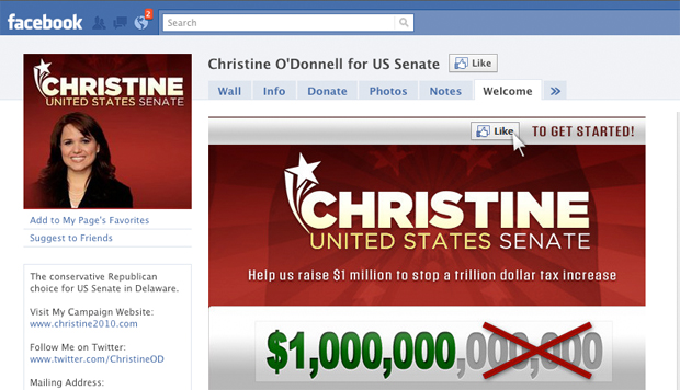 Christine O'Donnell Facebook page