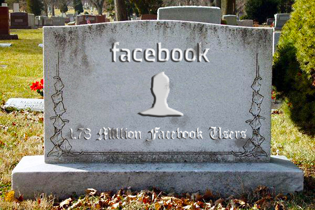 Facebook tombstone