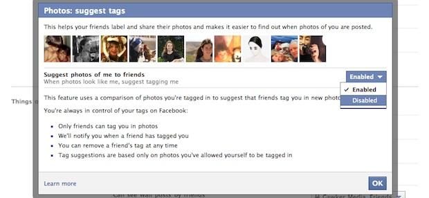 Facebook face ID