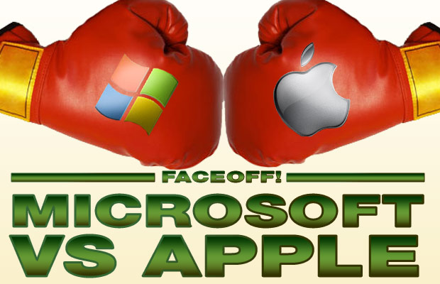 Microsoft Apple faceoff