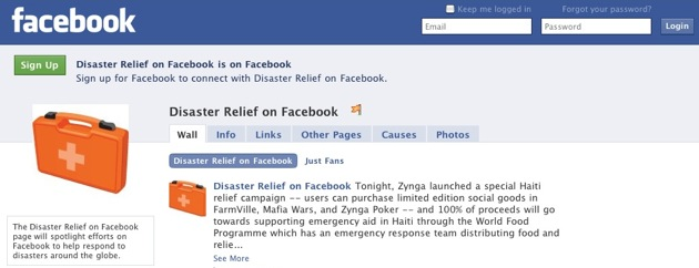 Facebook Global Relief