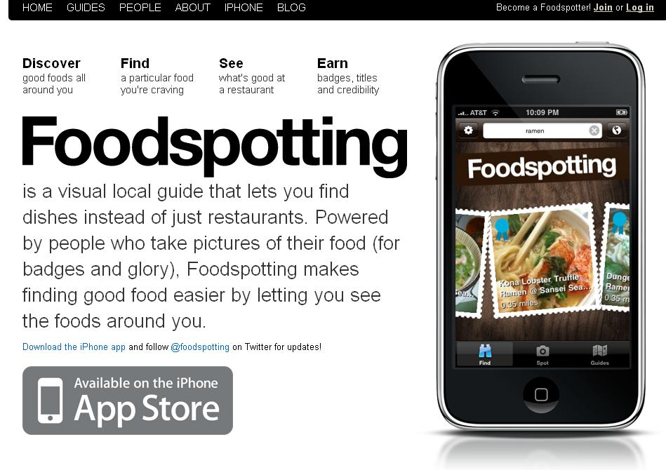 Foodspotting app