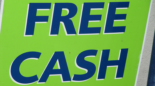 Free Cash sign