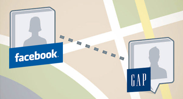 Facebook Places and Gap