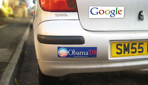 Google bumper sticker