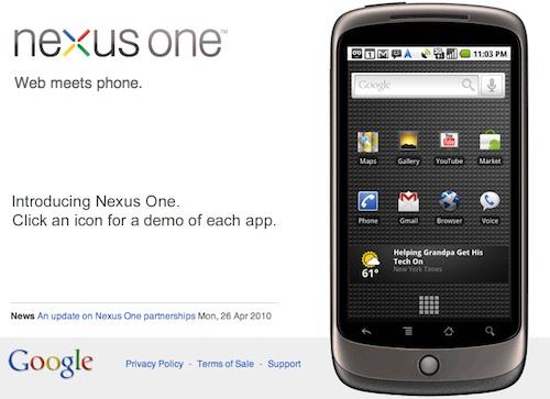 Google nexus one web
