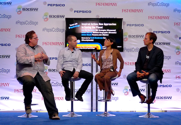 SXSW 2011 PepsiCo Plugged-In Stage Green Panel