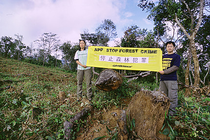 Greenpeace protest against Sinar Mas