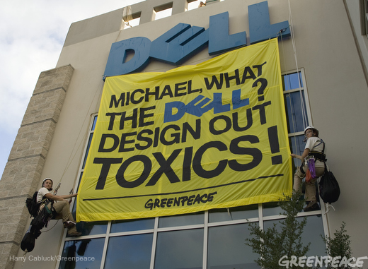 Greenpeace Dell sign