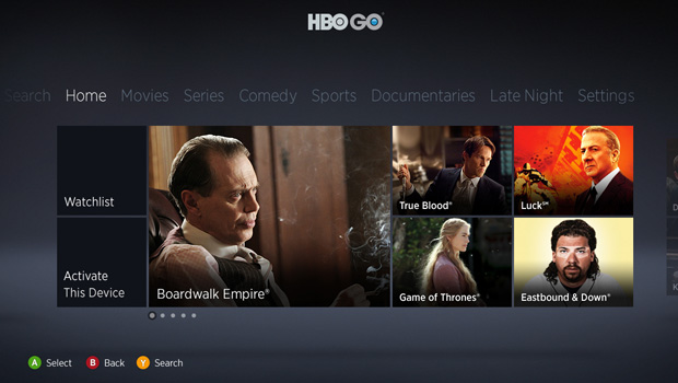 HBO Go on Xbox Live