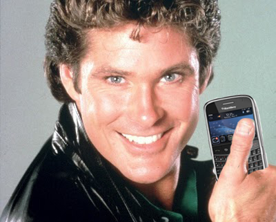 Hasselhoff with BlackBerry