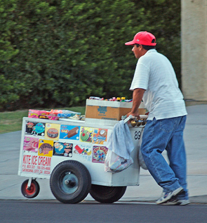 street ice cream vendor
